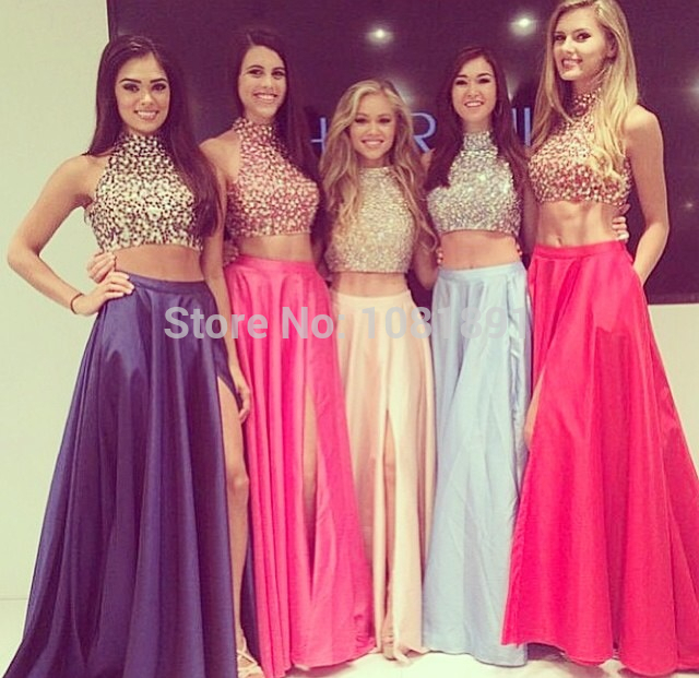 Aliexpress.com : Buy 2015 Best Selling Two Pieces Prom Dresses High ...