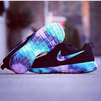 shoes roches galaxy blue purple black