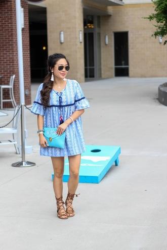 gracefullee made blogger dress shorts shoes bag jewels sunglasses