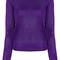 Kenzo - glitter knit top - women - polyester/viscose - xs, pink/purple, polyester/viscose