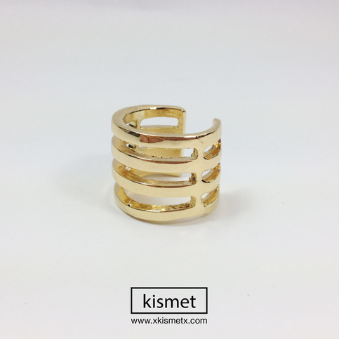 4 Tier Armor Ring - Gold · kismet · Online Store Powered by Storenvy
