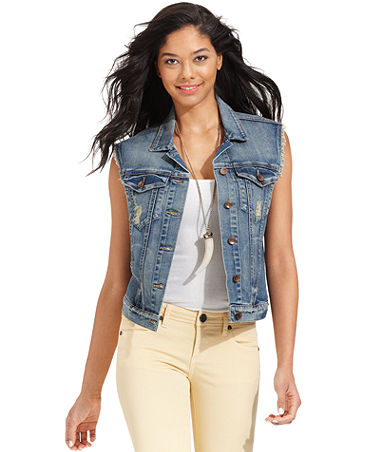 Kut from the Kloth Vest, Sleeveless Denim, Instinctive Wash - Women - Macy's