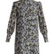 Mirela blouson-sleeved silk crepe de chin dress