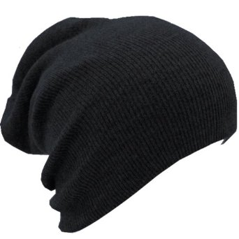 Amazon.com: Slouchy Beanie Slouch Hat Ski Hat Snowboard Hat Ribbed Beanie Black,One Size,Black: Clothing