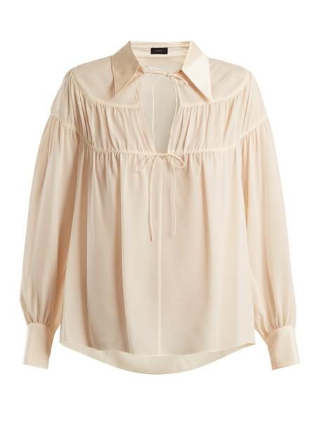 Joseph blouse silk cream top