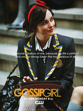 blazer navy university college gossip girl waldorf leighton meester blue jacket hat jacket