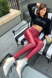 pants,olivia culpo,instagram,fall outfits,ankle boots