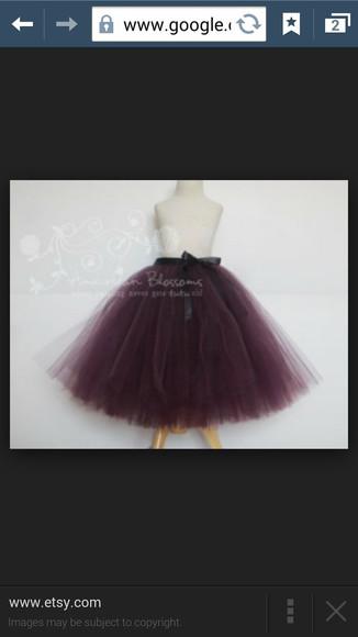 skirt purple tulle skirt full skirt