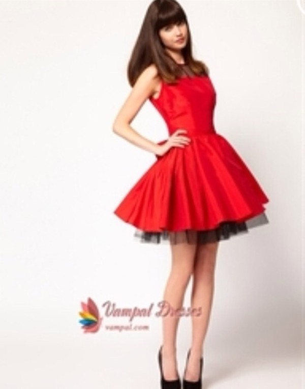 dress red dress fit and flare dress new girl holiday dress