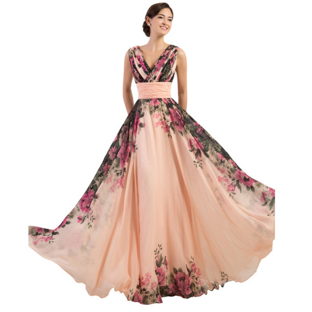 Dress: long evening dress, evening prom gown, formal dress ...
