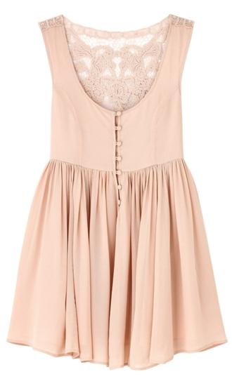 pink dress lace dress crochet nude dress dress pink dentelle lace blouse pink top button up