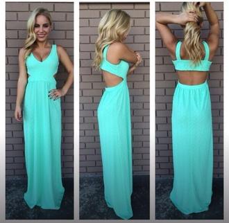 dress mint dress maxi dress long dress summer dress spring dress