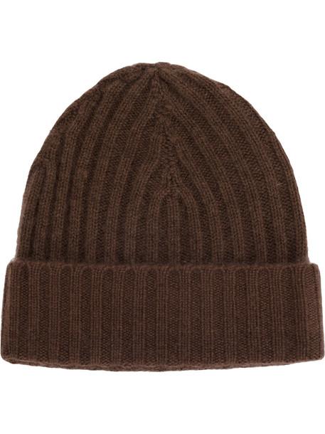 warm hat beanie knitted beanie brown