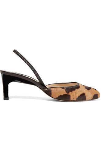 hair pumps print leopard print shoes