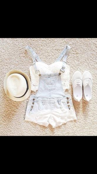 romper light blue crop tops lace summer outfits spring or summer wear spring outfits ombre rompers ombre shorts