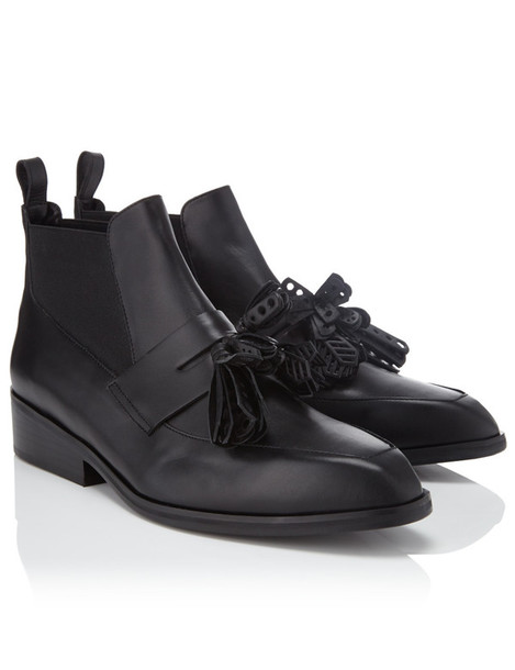Robert Clergerie tassel boots leather black black leather