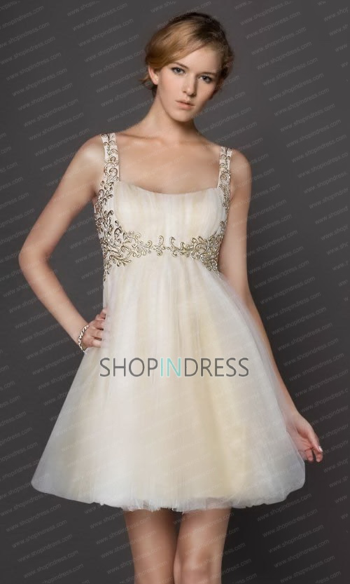 Line bateau short/mini chiffon champagne cocktail dress with ruffles npd1182 sale at shopindress.com