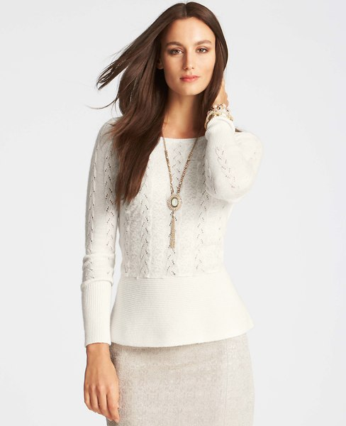 Textured Peplum Sweater | Ann Taylor