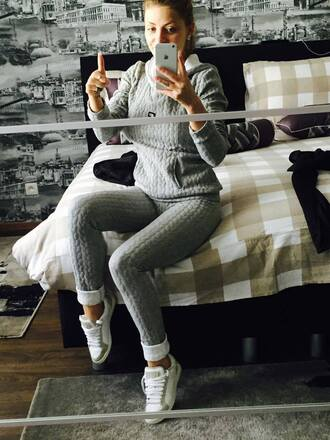 jumpsuit knitwear sweatshirt leggings urban girly girly wishlist fashion style holiday season fall outfits tumblr tumblr outfit outfit fall sweater grey pastel sportswear women girly outfits tumblr chanel clothes