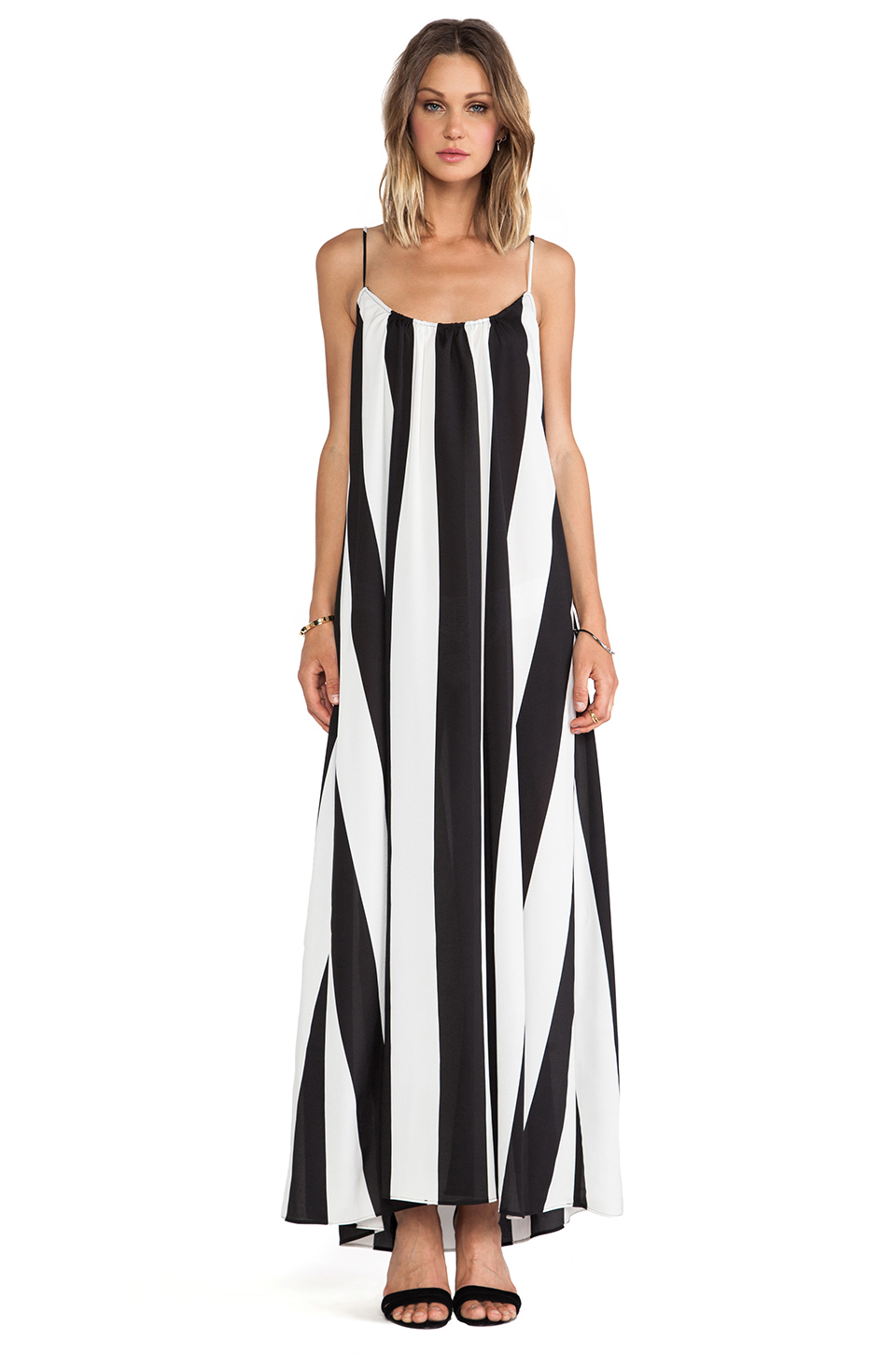 Show Me Your Mumu Trapeze Maxi Dress in Black & White Stripe from REVOLVEclothing.com