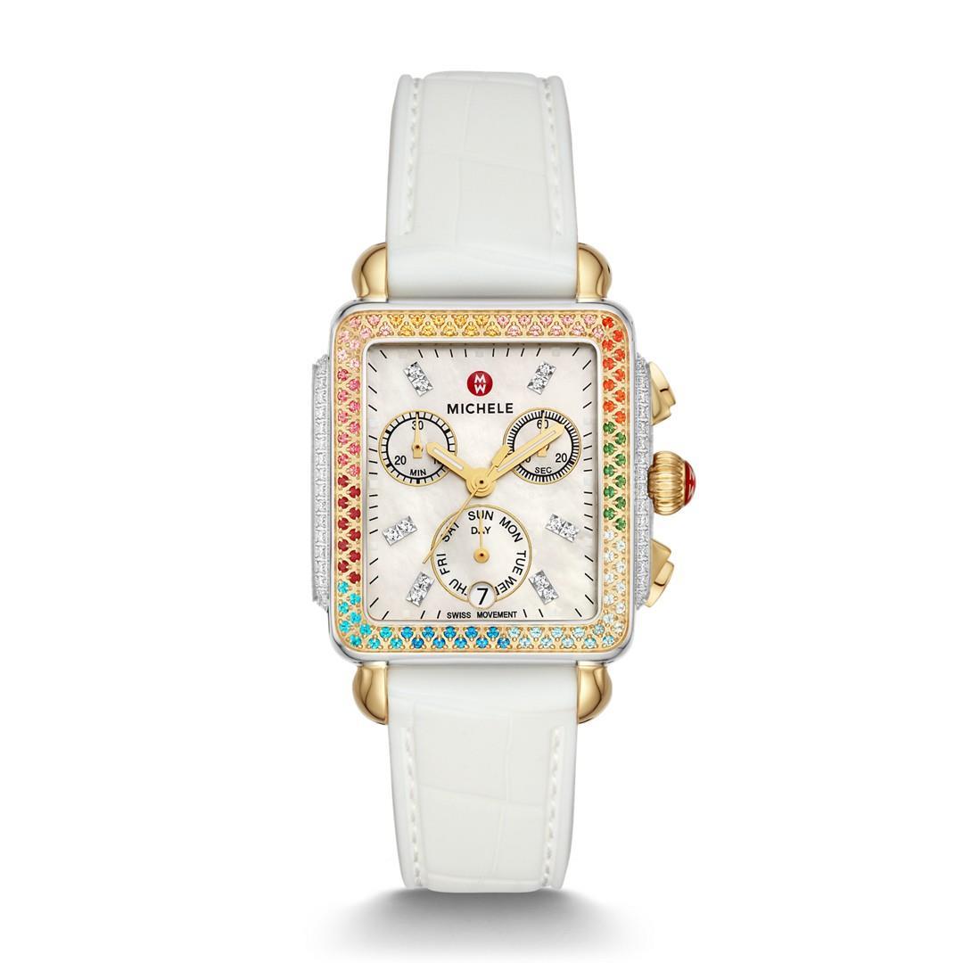 Michele Deco Carousel Two-Tone Diamond Watch  Jewelry - MWW06P000297