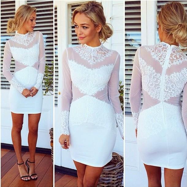 dress white dress lace dress black dress