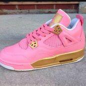 shoes,air jordan,pink,pink sneakers,low top sneakers,j's