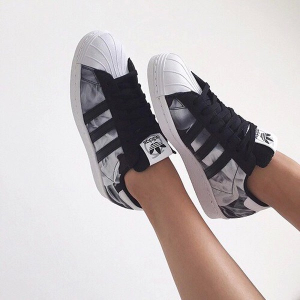 30b2a4f1e65005 adidas Superstar 80s Women s Black Casual Lace-Up Shoe