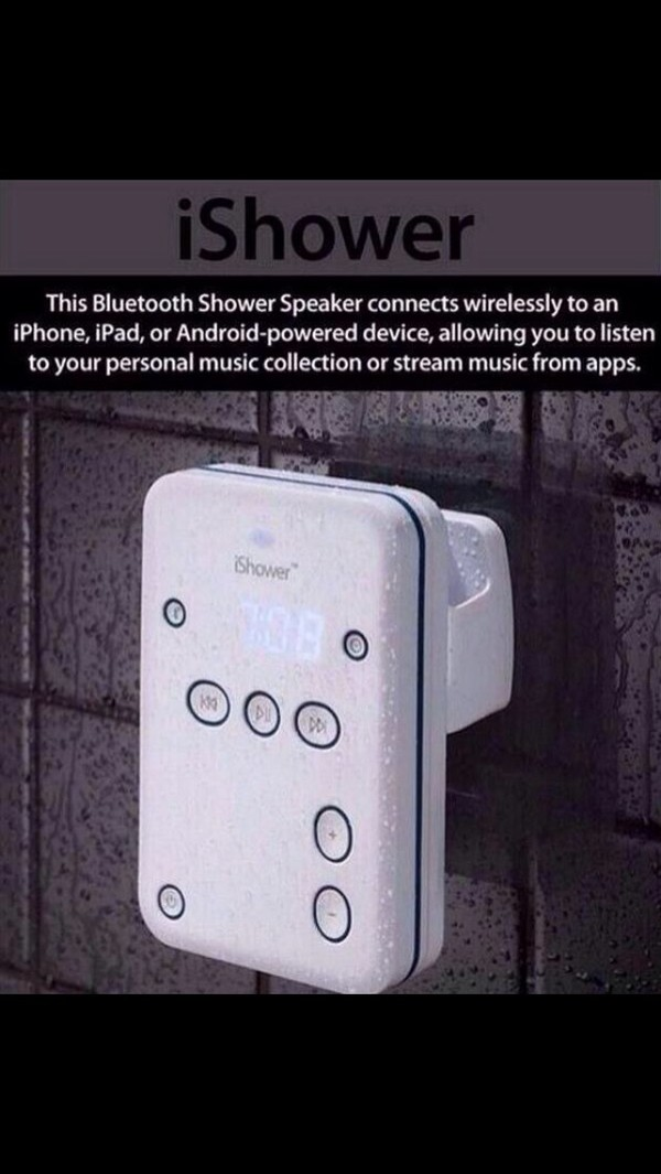 music showerspeaker technology holiday gift home accessory