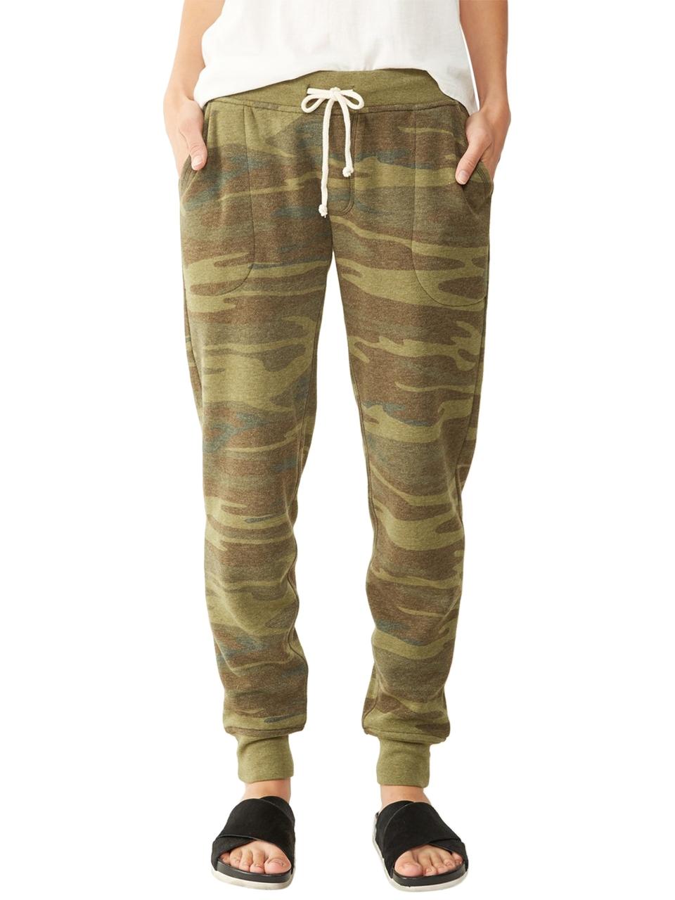 Jogger printed eco fleece pants