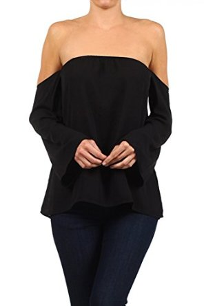 Shoulder blouse at amazon women's clothing store: