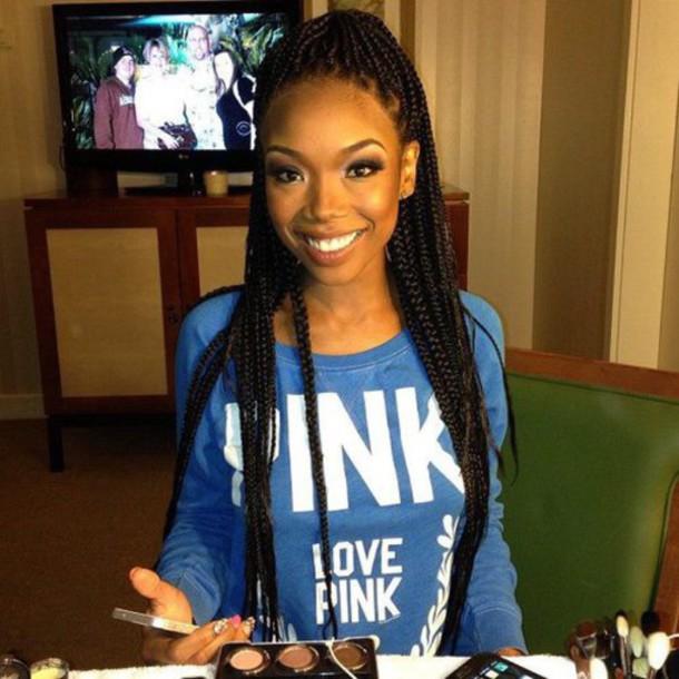 make-up box braids
