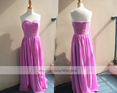 Handmade Pink Knee Length Bridesmaid Dress/ Cocktail by Wishdress