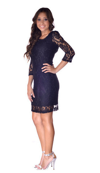 All Laced Everything Openback Dress