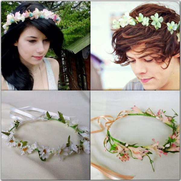 hat flower crown