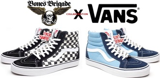 shoes vans skater skateboard bones printed vans