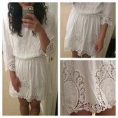 dress,white,white dress,lace dress,lace,mabell