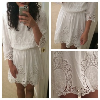 dress white white dress lace dress lace mabell