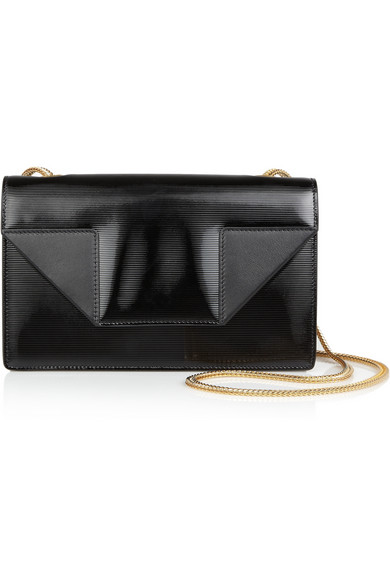 Saint Laurent | Betty small patent-leather shoulder bag | NET-A-PORTER.COM