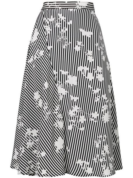 Altuzarra skirt striped skirt women black silk