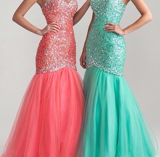 dress rhinestones teal dress pink dress prom dress sparkly dress