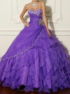 Length sleeveless crystal detailing quinceanera dresses