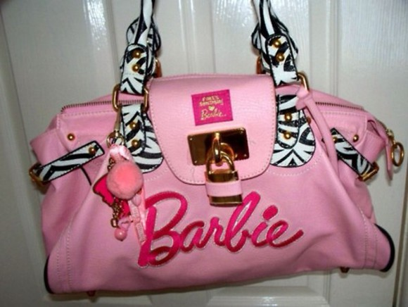bag pink bag barbie