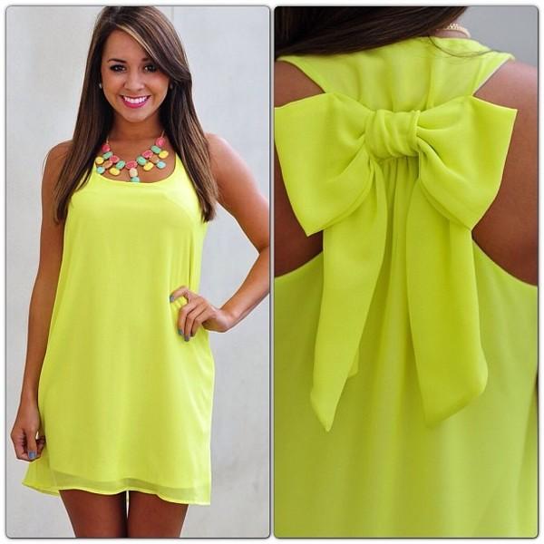 dress bow neon