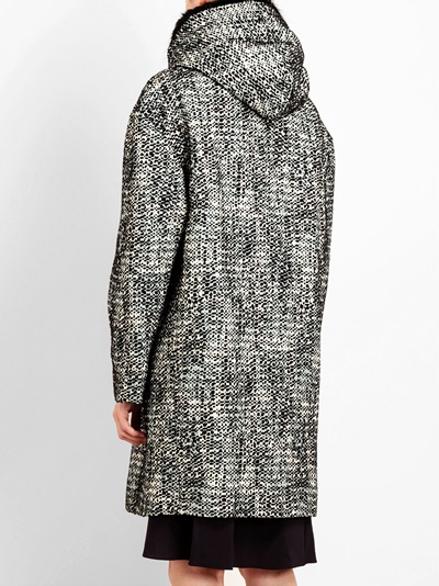 Marni Notched Wool-blend Parka - Browns - Farfetch.com