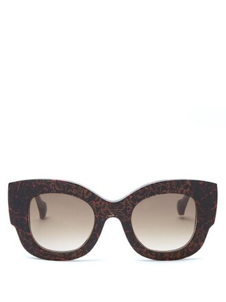 sunglasses print brown