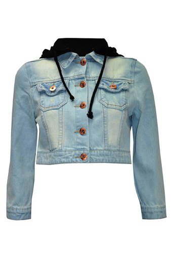 Womens Yama cropped denim jacket | Pop Couture