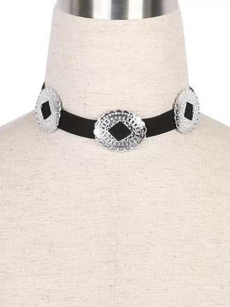 jewels choker necklace jewelry black choker necklace western