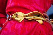 belt,bunny,christopher ross,gold,easter