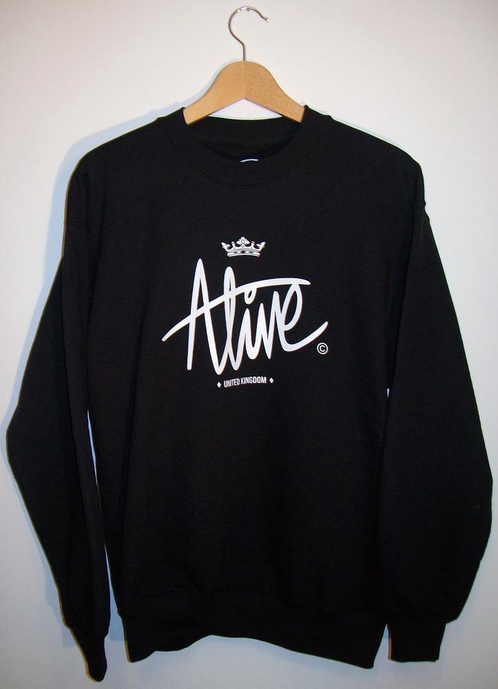 Alive. logo pullover hoodie black